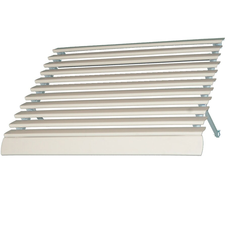 Americana Building Products 42-in Wide x 28.75-in Projection Ivory Solid Open Slope Low Eave Window Awning