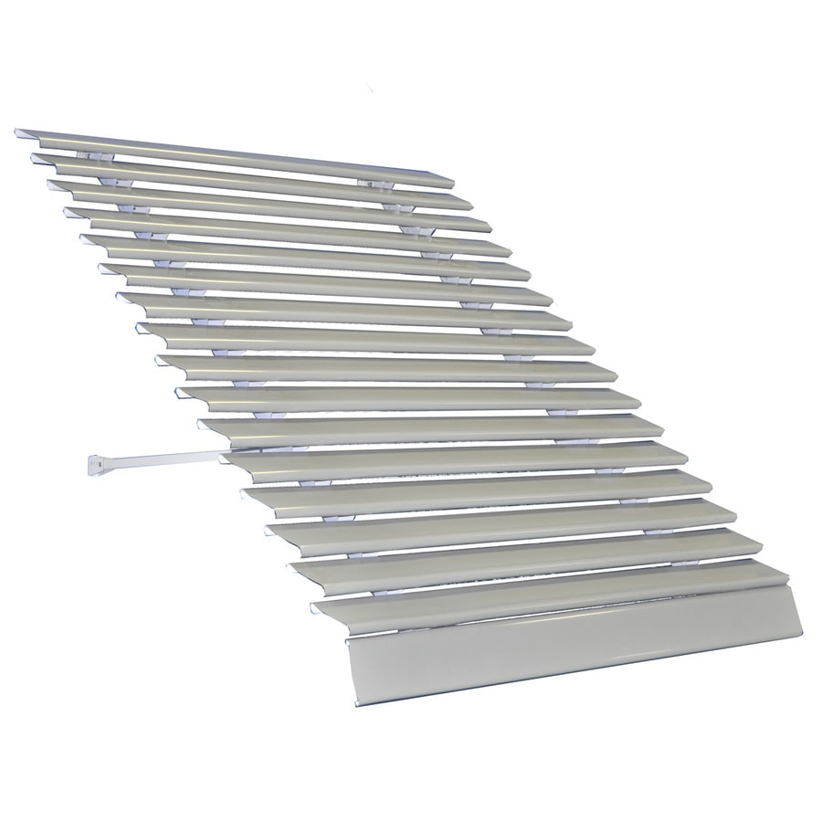 Americana Building Products 66-in Wide x 25-in Projection Grey Solid Open Slope Low Eave Window Awning