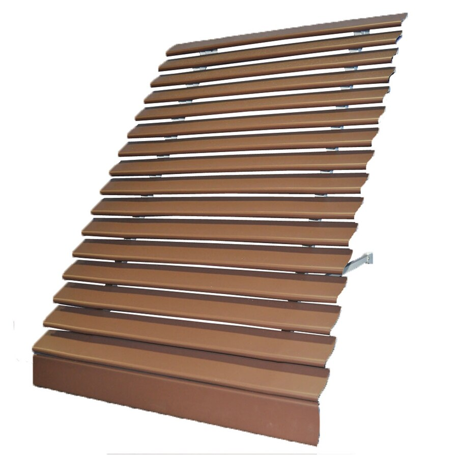 Americana Building Products 42-in Wide x 28.75-in Projection Brown Solid Open Slope Low Eave Window Awning