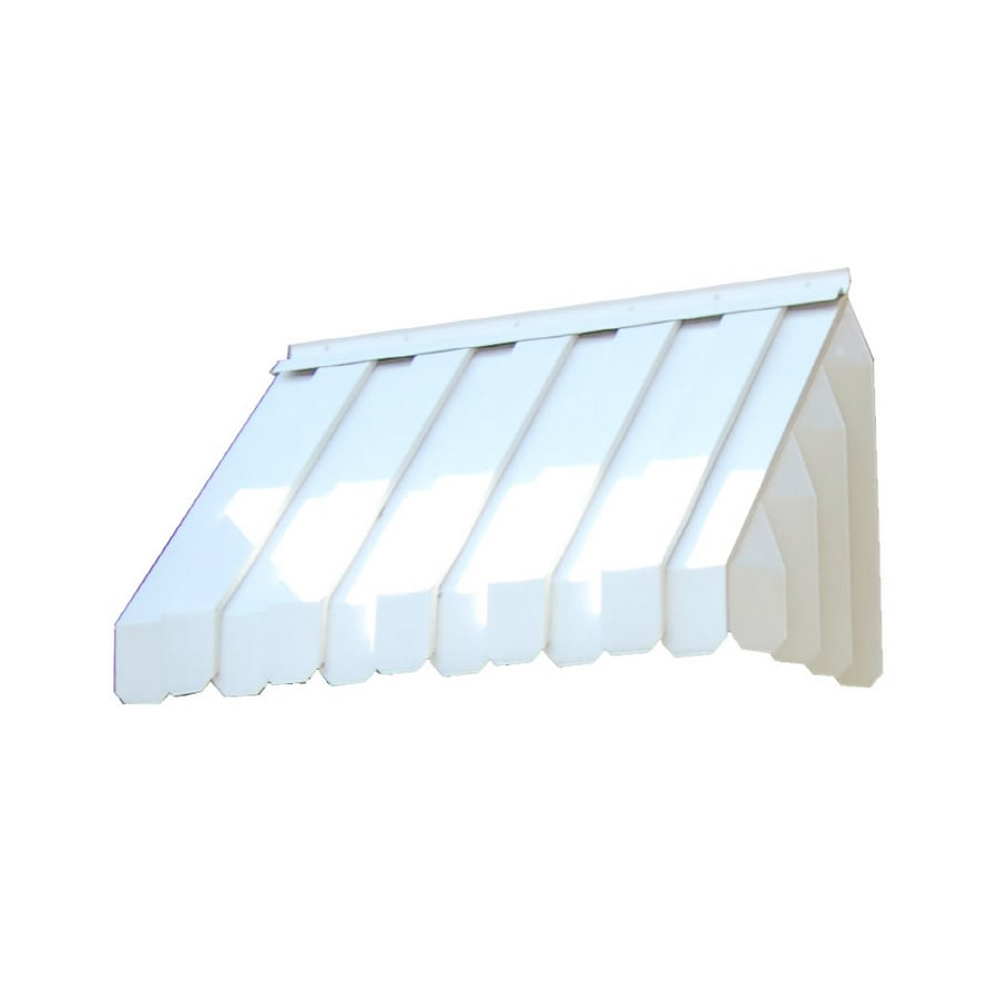 Americana Building Products 50-in Wide x 22-in Projection White Solid Slope Window Awning