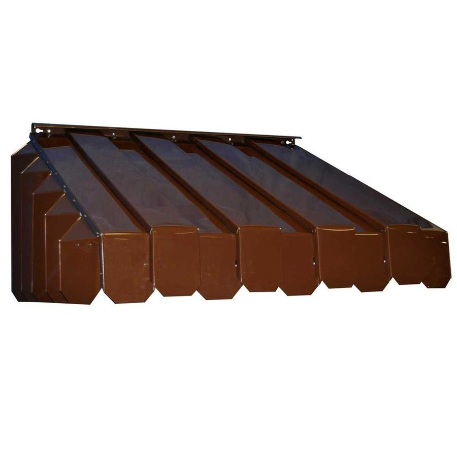 Americana Building Products 55-in Wide x 22-in Projection Brown Solid Slope Window Awning