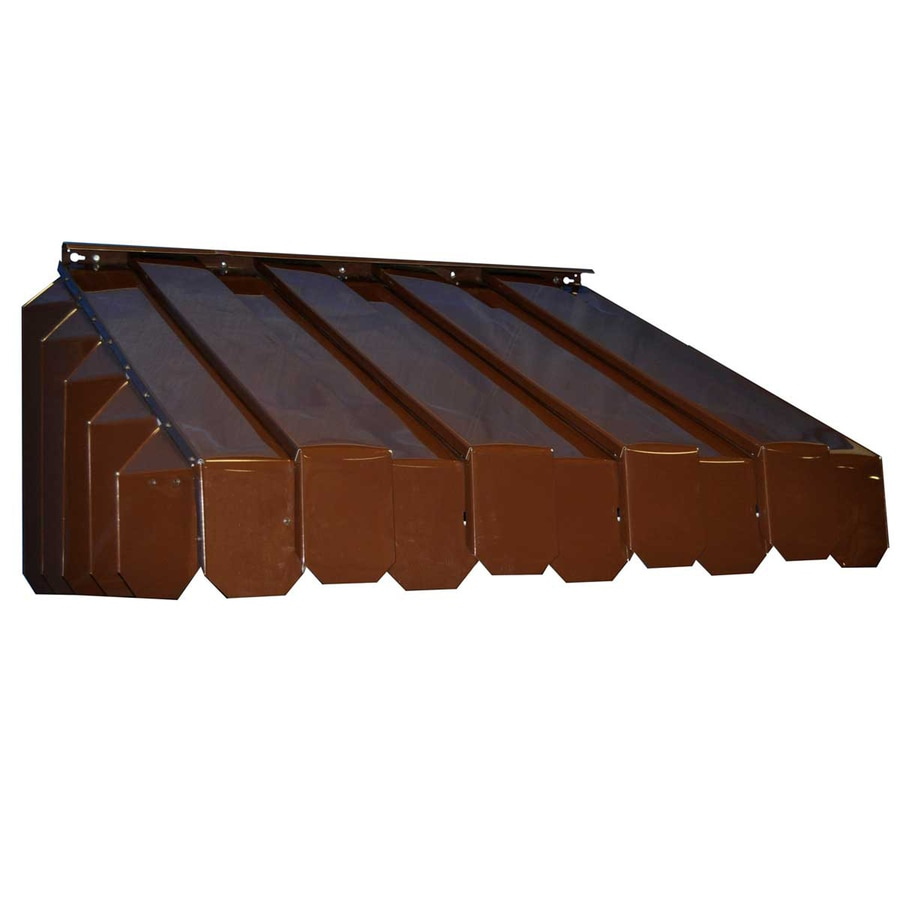 Americana Building Products 65-in Wide x 29-in Projection Brown Solid Slope Window Awning