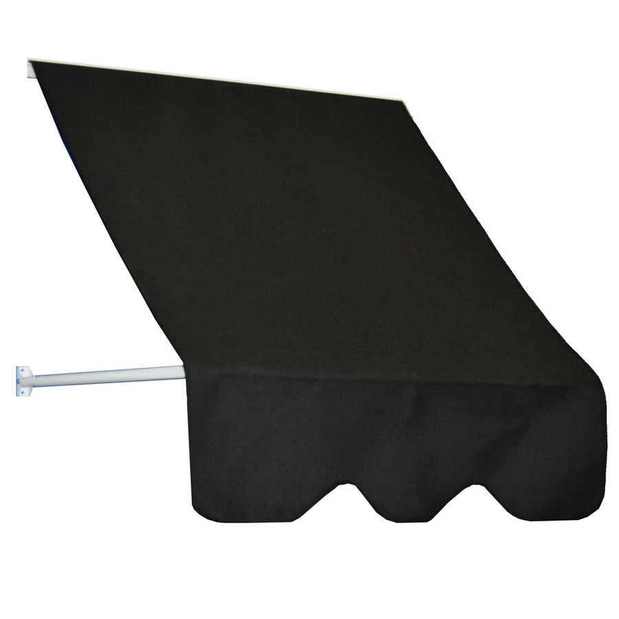Americana Building Products 78-in Wide x 24-in Projection Black Open Slope Low Eave Window Retractable Manual Awning