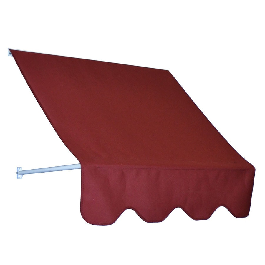 Americana Building Products 42-in Wide x 24-in Projection Burgundy Open Slope Low Eave Window Retractable Manual Awning
