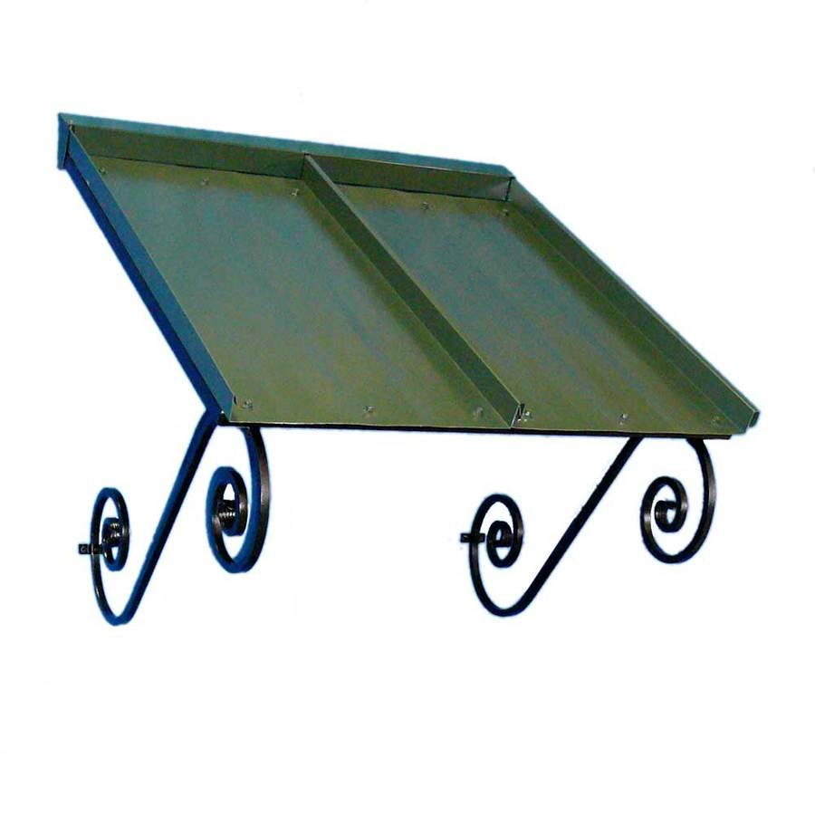 Americana Building Products 36-in Wide x 36-in Projection Dark Green Solid Open Slope Window/Door Awning