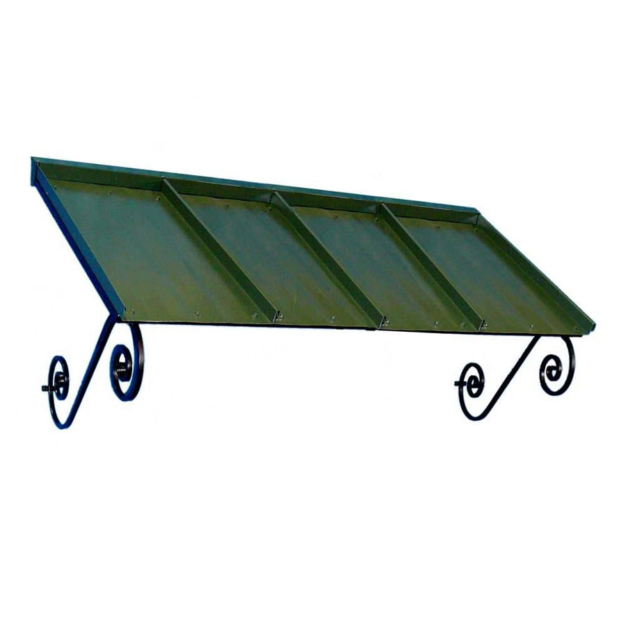Americana Building Products 72-in Wide x 36-in Projection Dark Green Solid Open Slope Window/Door Awning