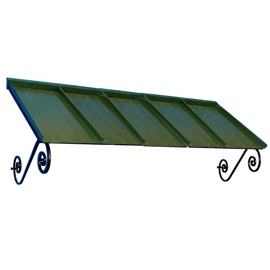 Americana Building Products 90-in Wide x 36-in Projection Dark Green Solid Open Slope Window/Door Awning