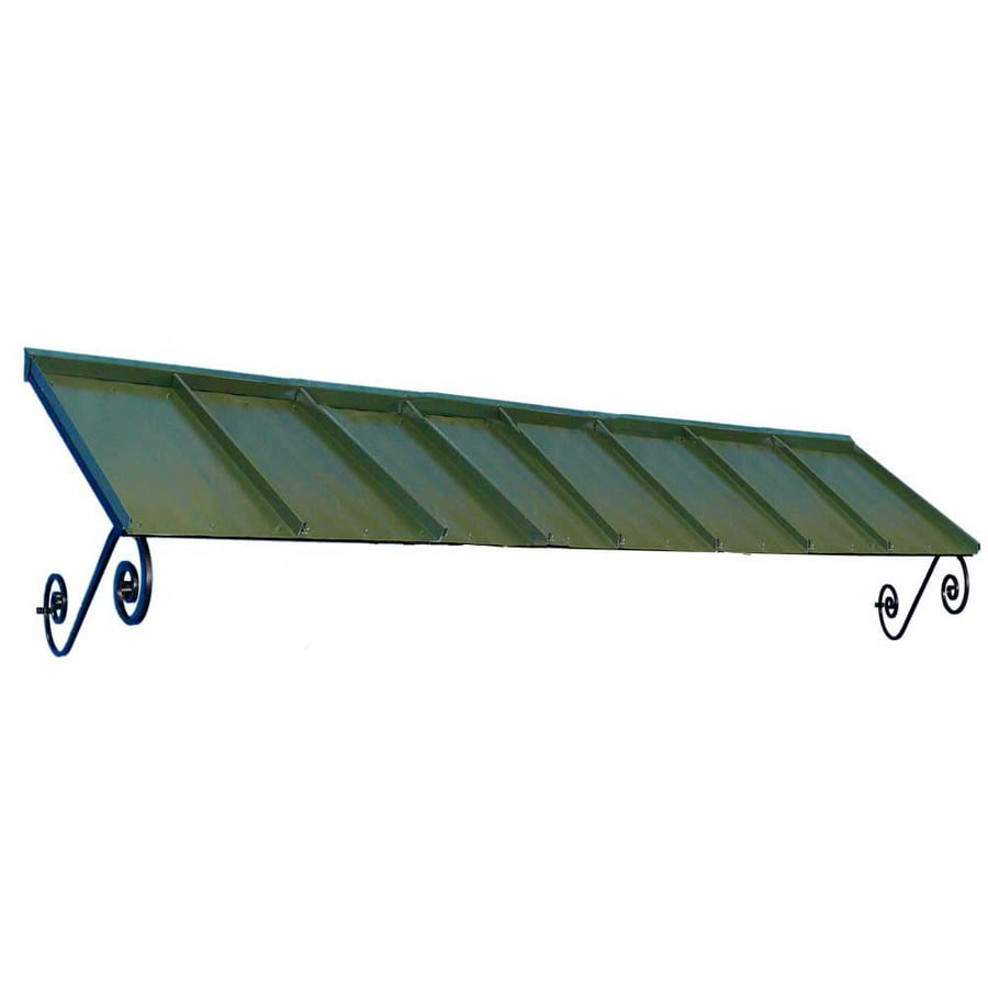 Americana Building Products 144-in Wide x 36-in Projection Dark Green Solid Open Slope Window/Door Awning
