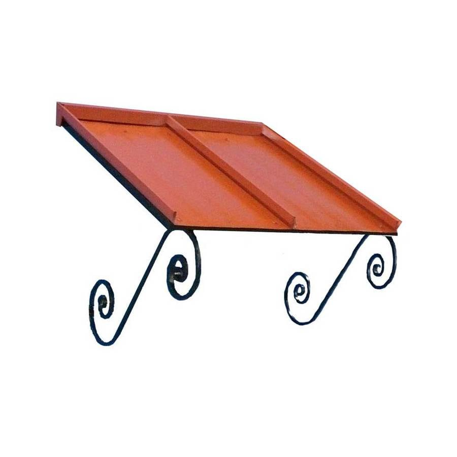 Americana Building Products 36-in Wide x 36-in Projection Terra Cotta Solid Open Slope Window/Door Awning
