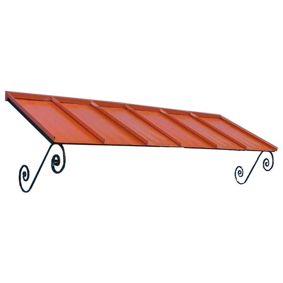 Americana Building Products 108-in Wide x 36-in Projection Terra Cotta Solid Open Slope Window/Door Awning