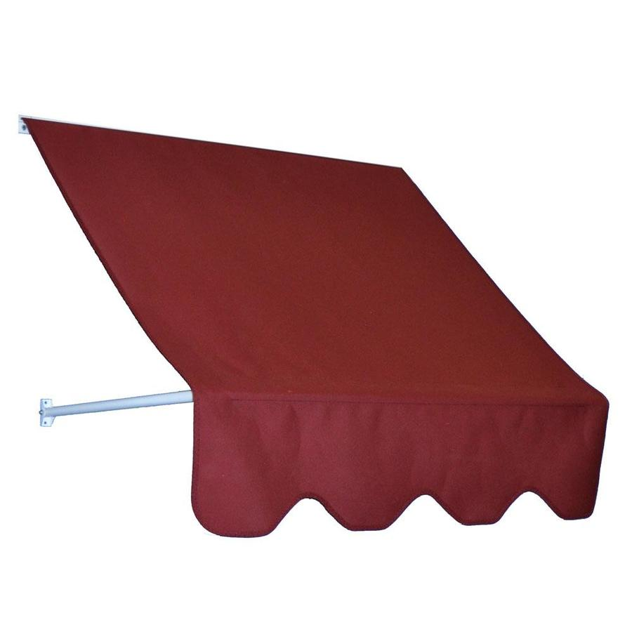 Americana Building Products 48-in Wide x 24-in Projection Burgundy Open Slope Low Eave Window Retractable Manual Awning
