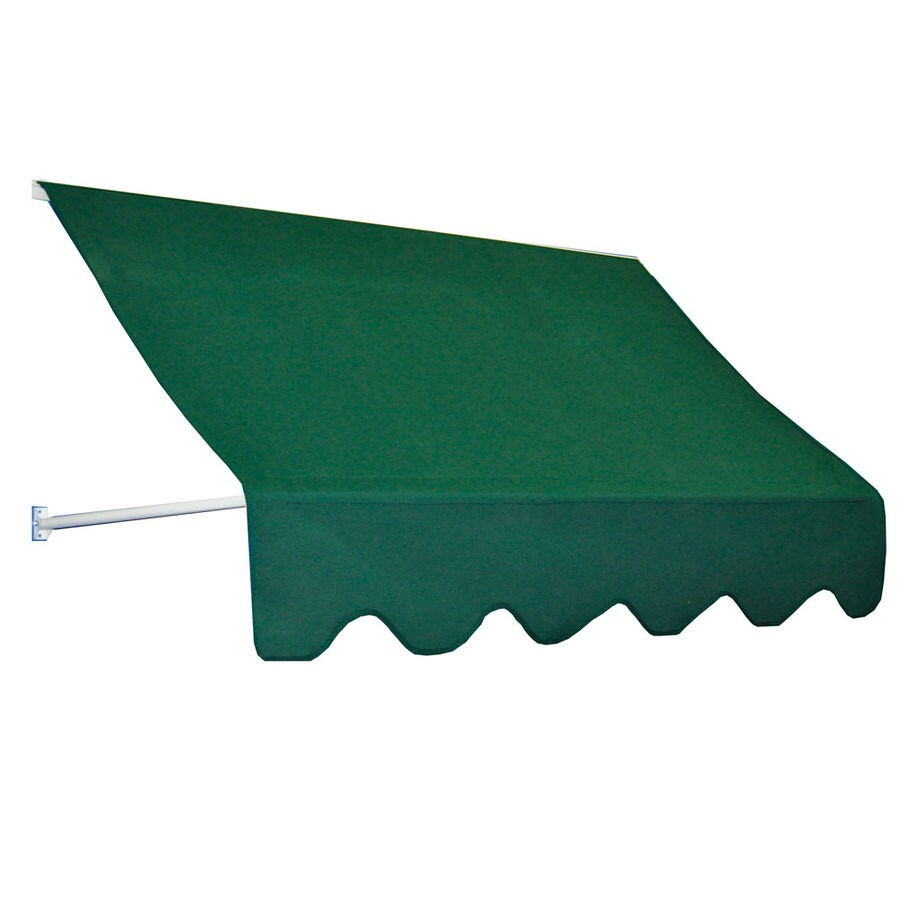 Americana Building Products 90-in Wide x 24-in Projection Forest Green Open Slope Low Eave Window Retractable Manual Awning
