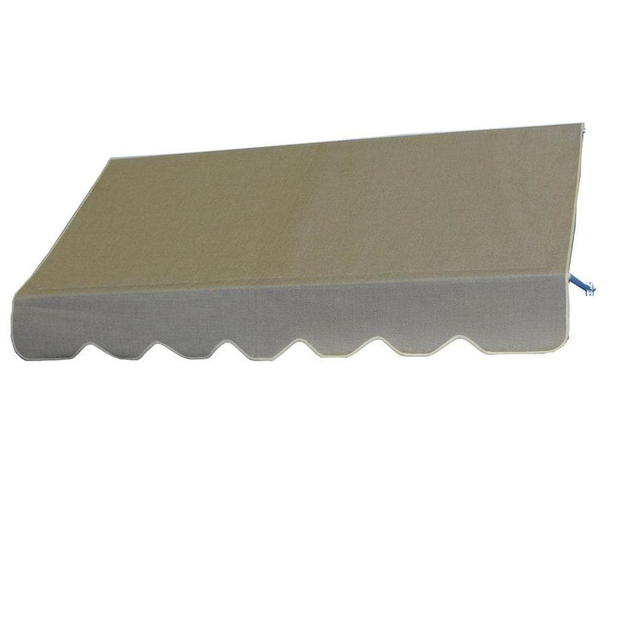 Americana Building Products 96-in Wide x 24-in Projection Beige Open Slope Low Eave Window Retractable Manual Awning