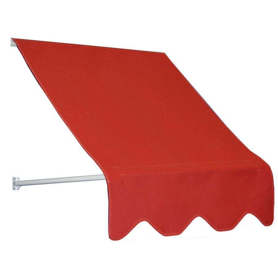 Americana Building Products 42-in Wide x 24-in Projection Jockey Red Open Slope Low Eave Window Retractable Manual Awning