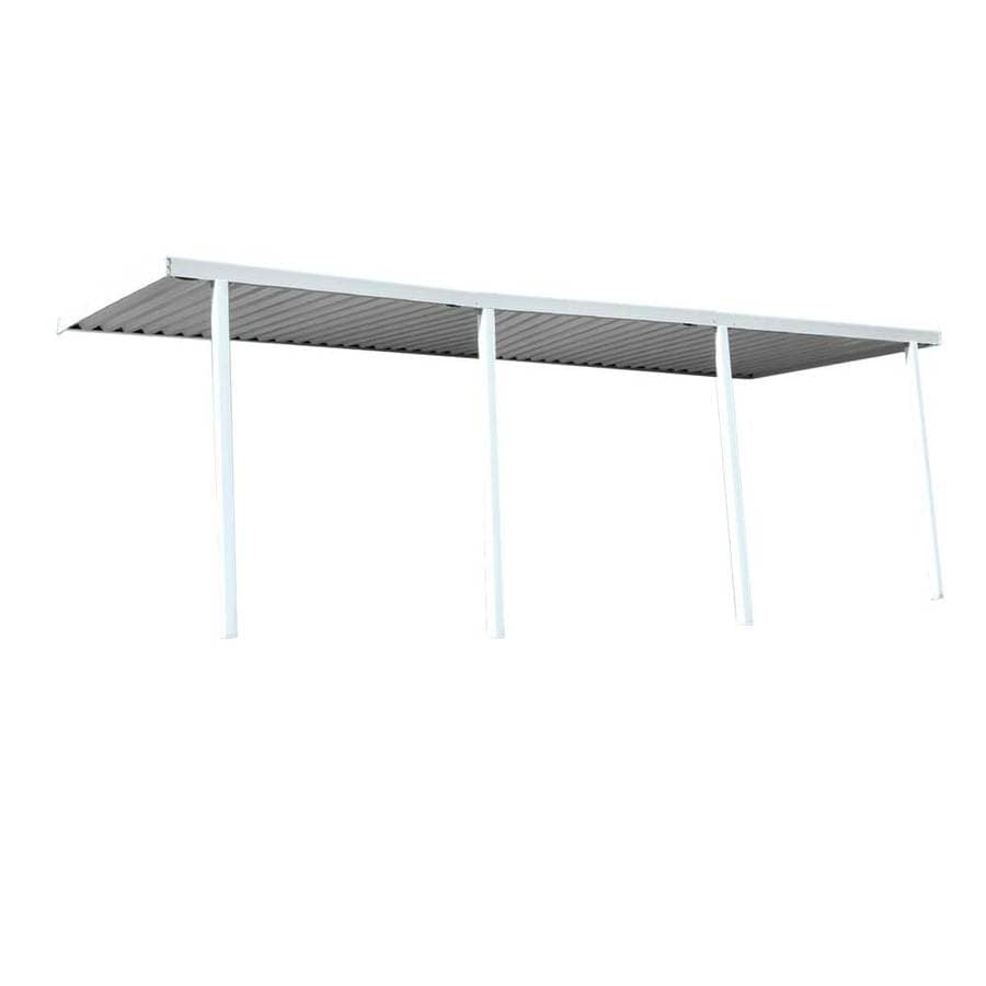 Americana Building Products 280-in Wide x 144-in Projection White Open Slope Patio Awning