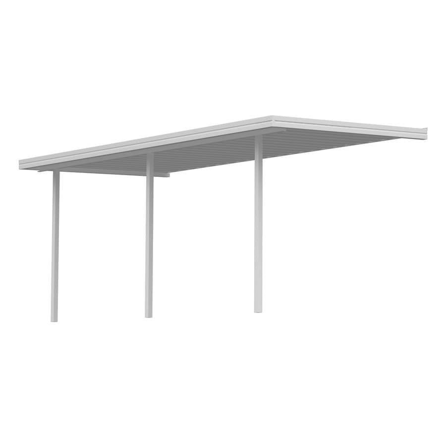 Americana Building Products 40-ft x 7-ft x 8-ft White Metal Patio Cover