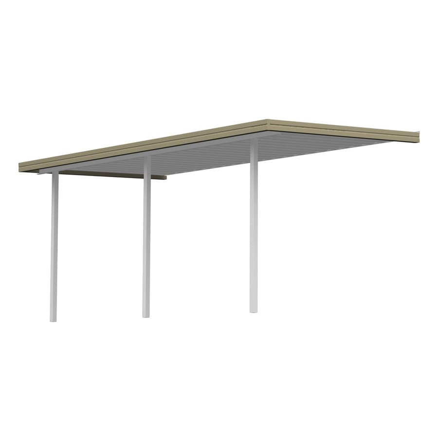 Americana Building Products 21.67-ft x 10-ft x 8-ft Tan Metal Patio Cover