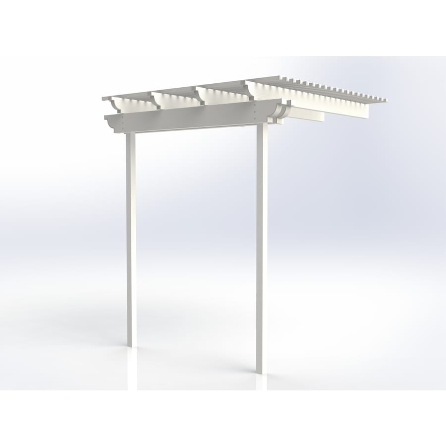 Americana Building Products 96-in W x 96-in L x 112.5-in H White Aluminum Attached Pergola
