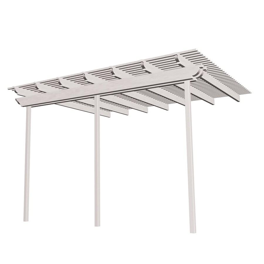 Americana Building Products 120-in W x 240-in L x 112.5-in H White Aluminum Attached Pergola