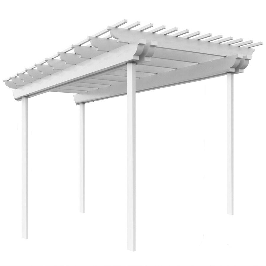 Americana Building Products 96-in W x 144-in L x 112.5-in H White Aluminum Freestanding Pergola