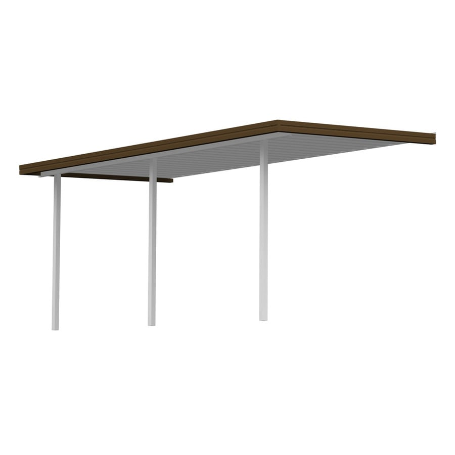 Americana Building Products 15-ft x 10-ft x 8-ft Brown Metal Patio Cover