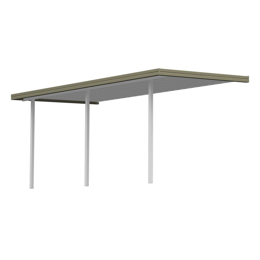 Americana Building Products 21.67-ft x 10-ft x 8-ft Clay Metal Patio Cover