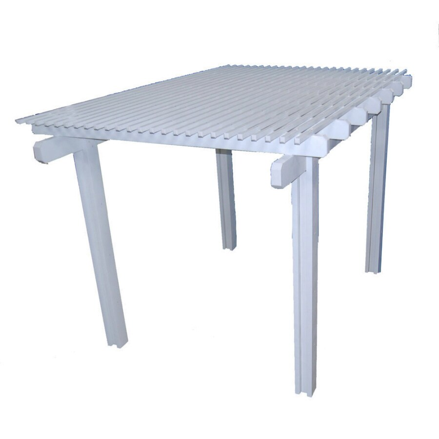 Americana Building Products 120-in W x 168-in L x 112.5-in H White Aluminum Freestanding Pergola