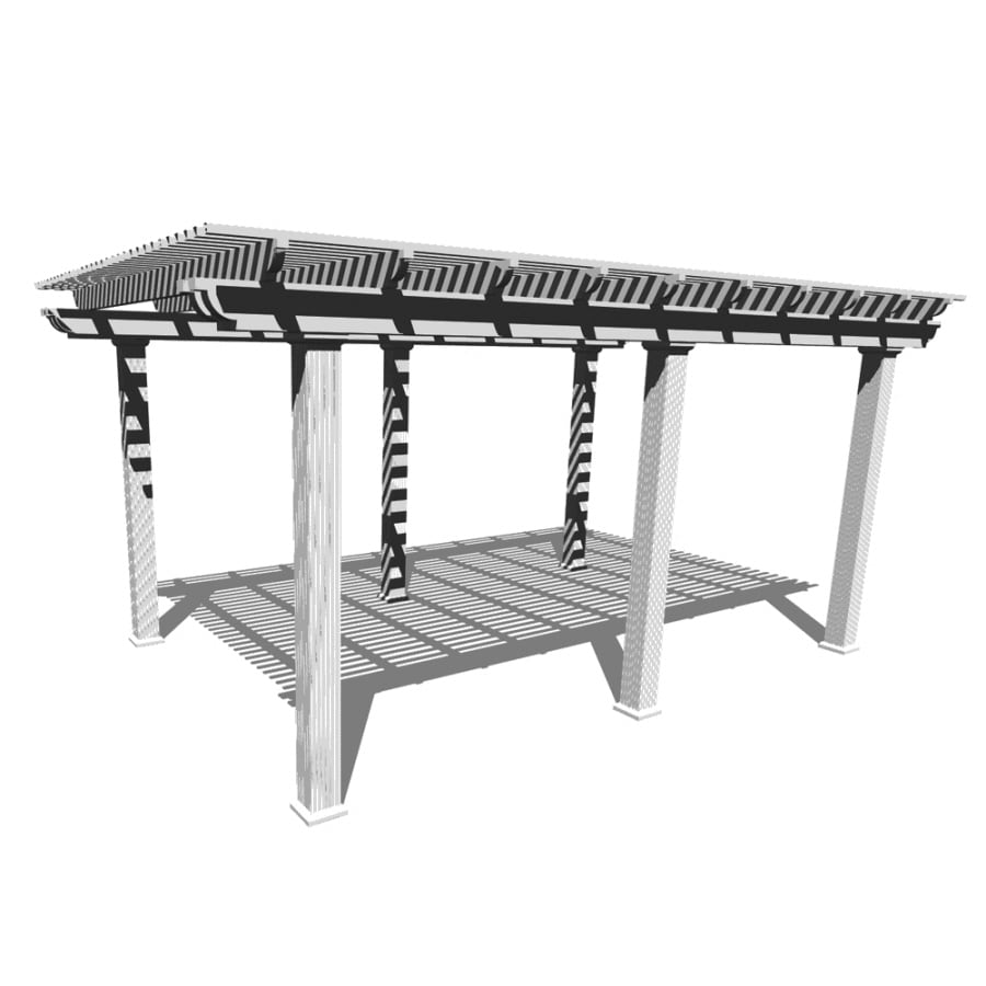 Americana Building Products 144-in W x 240-in L x 112.5-in H White Aluminum Freestanding Pergola