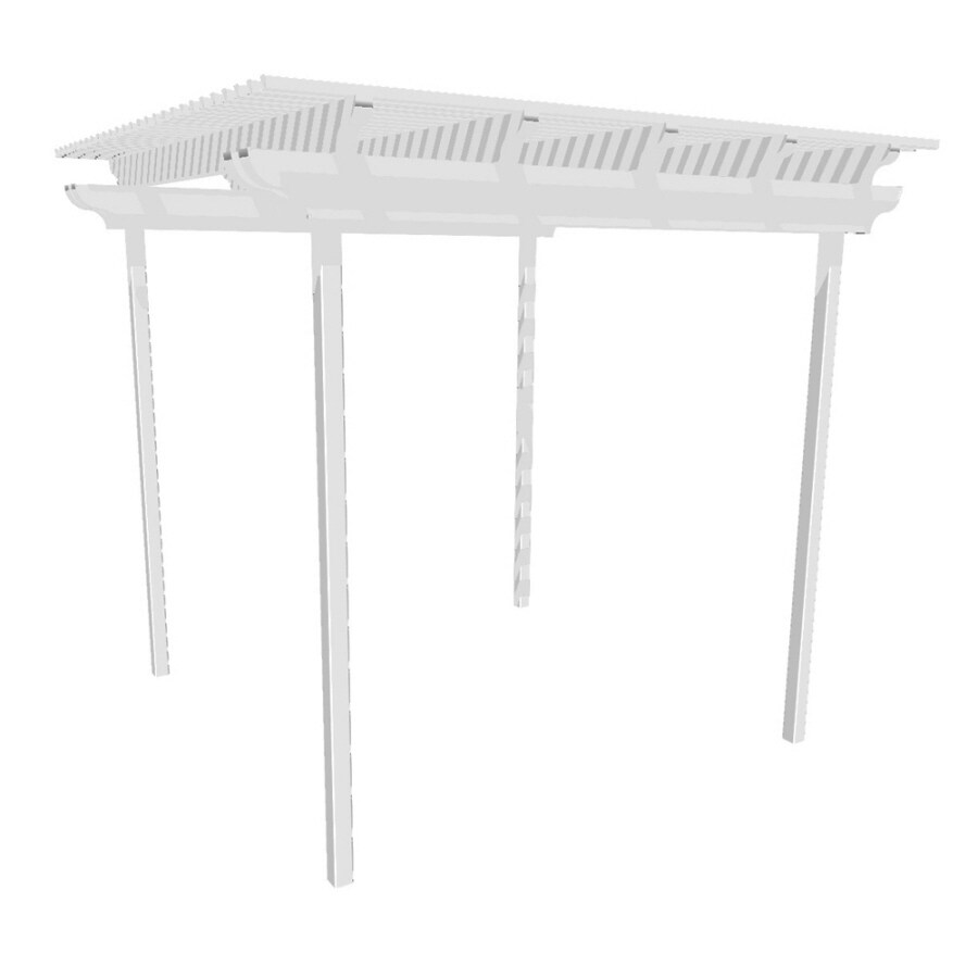Americana Building Products 120-in W x 120-in L x 112.5-in H White Aluminum Freestanding Pergola