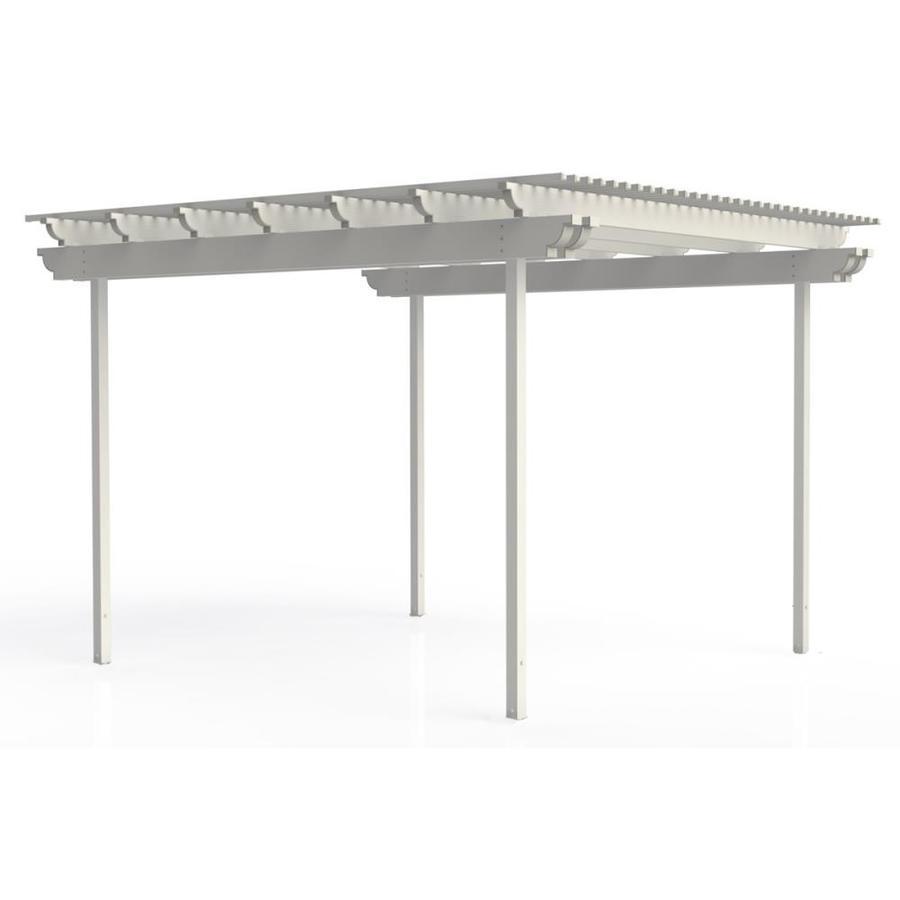 Americana Building Products 120-in W x 144-in L x 112.5-in H White Aluminum Freestanding Pergola