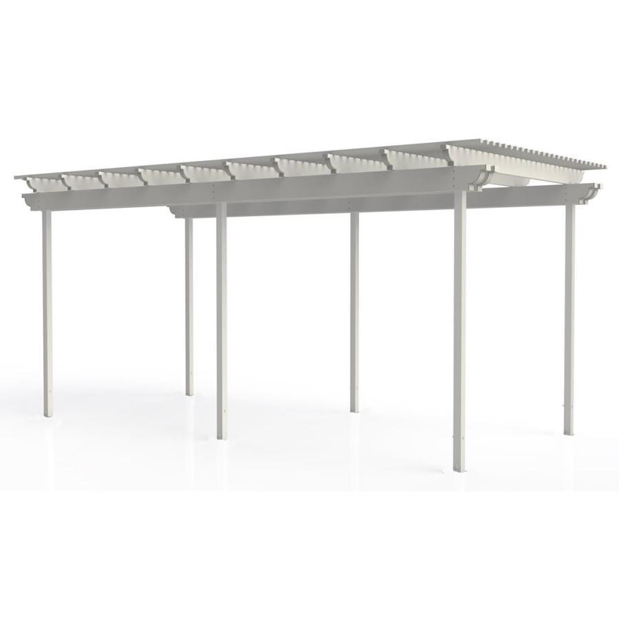 Americana Building Products 120-in W x 240-in L x 112.5-in H White Aluminum Freestanding Pergola