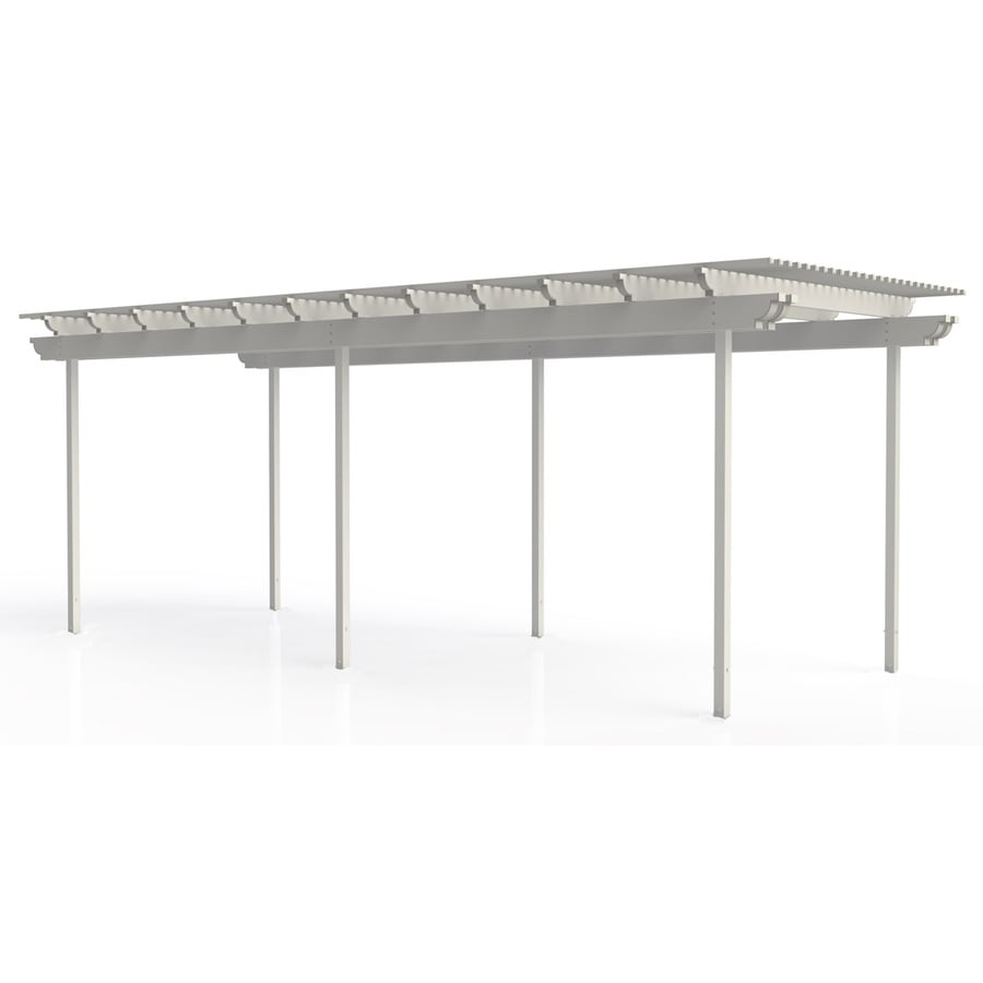 Americana Building Products 120-in W x 360-in L x 112.5-in H White Aluminum Freestanding Pergola