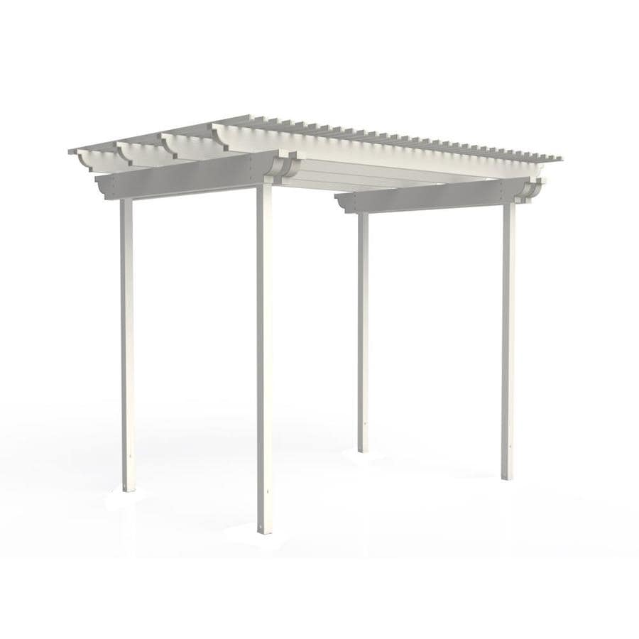 Americana Building Products 120-in W x 96-in L x 112.5-in H White Aluminum Freestanding Pergola