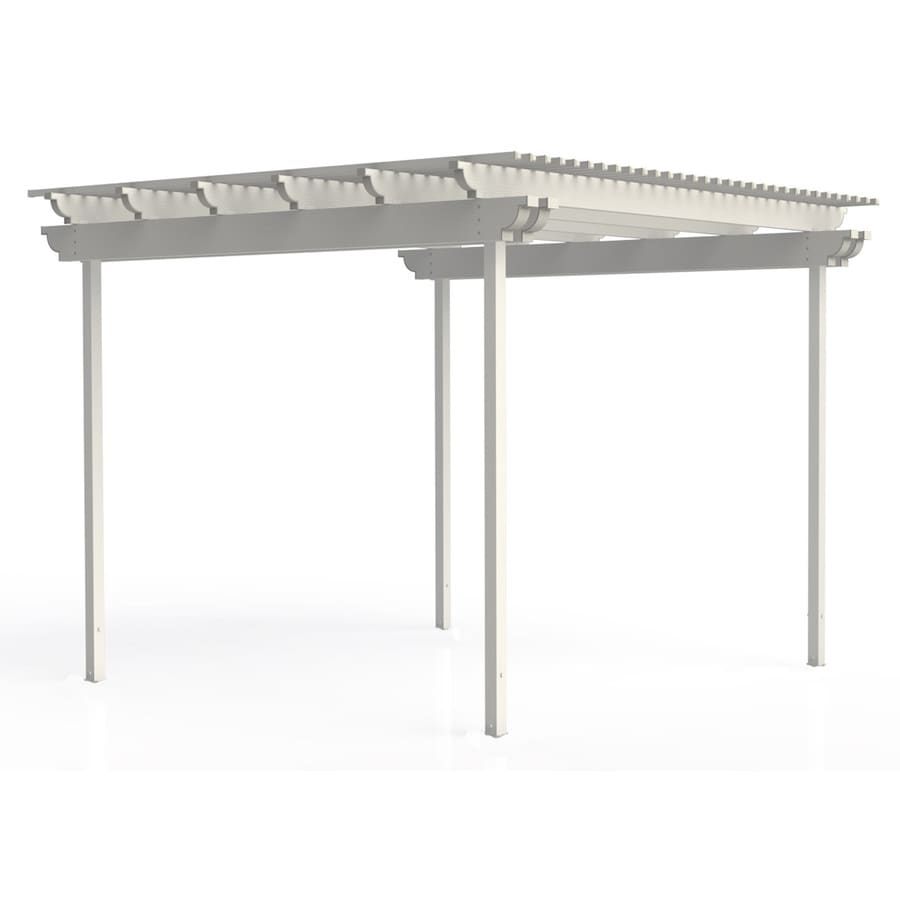 Americana Building Products 144-in W x 144-in L x 112.5-in H White Aluminum Freestanding Pergola