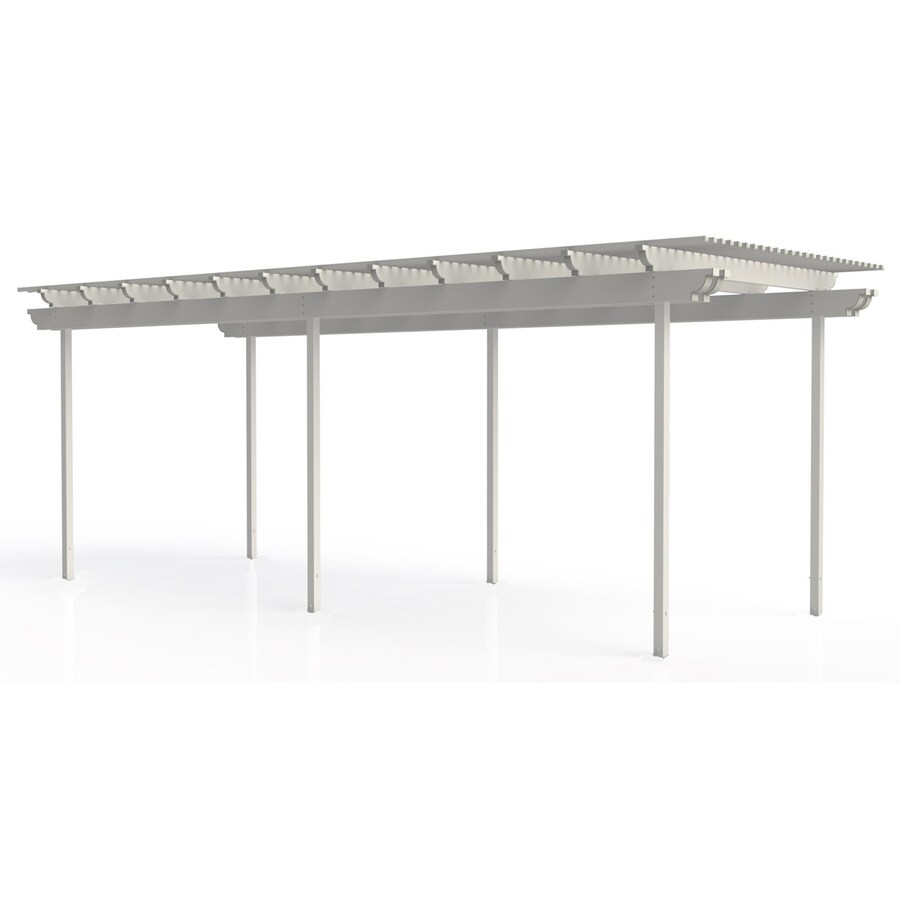 Americana Building Products 144-in W x 360-in L x 112.5-in H White Aluminum Freestanding Pergola