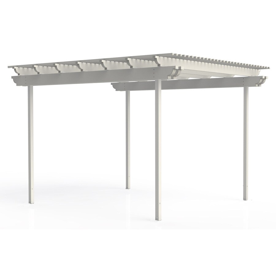 Americana Building Products 96-in W x 168-in L x 112.5-in H White Aluminum Freestanding Pergola