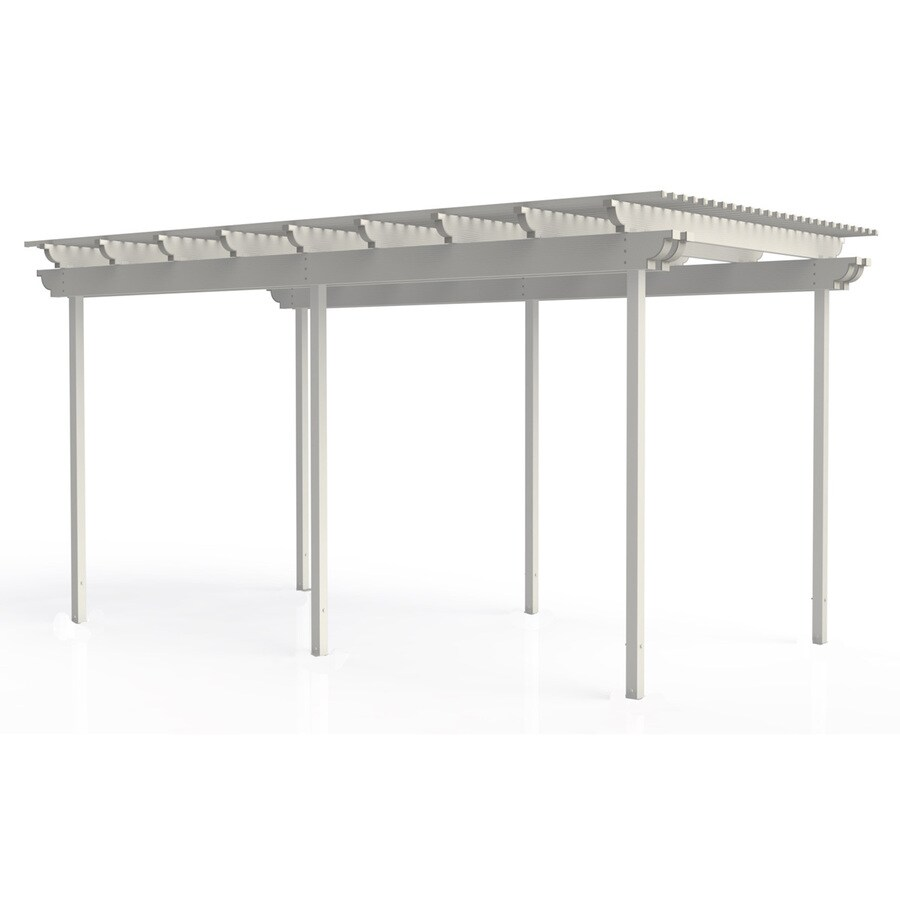 Americana Building Products 96-in W x 192-in L x 112.5-in H White Aluminum Freestanding Pergola