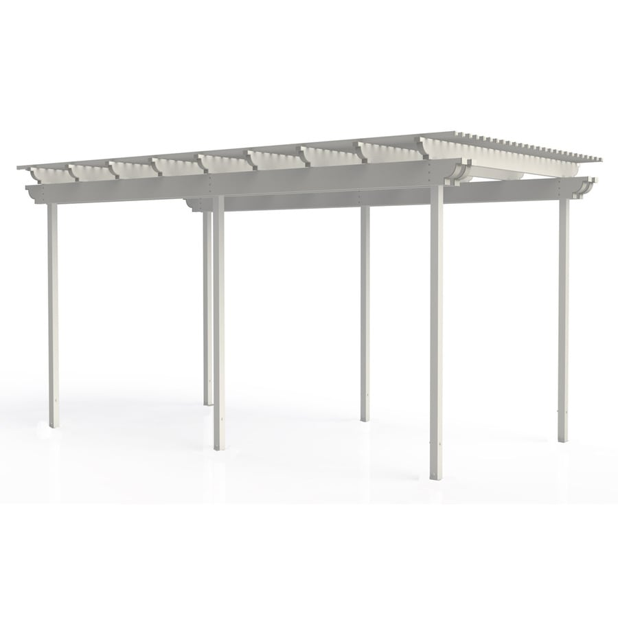 Americana Building Products 96-in W x 216-in L x 112.5-in H White Aluminum Freestanding Pergola