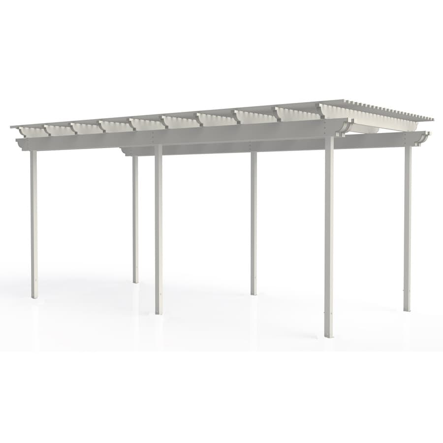 Americana Building Products 96-in W x 240-in L x 112.5-in H White Aluminum Freestanding Pergola