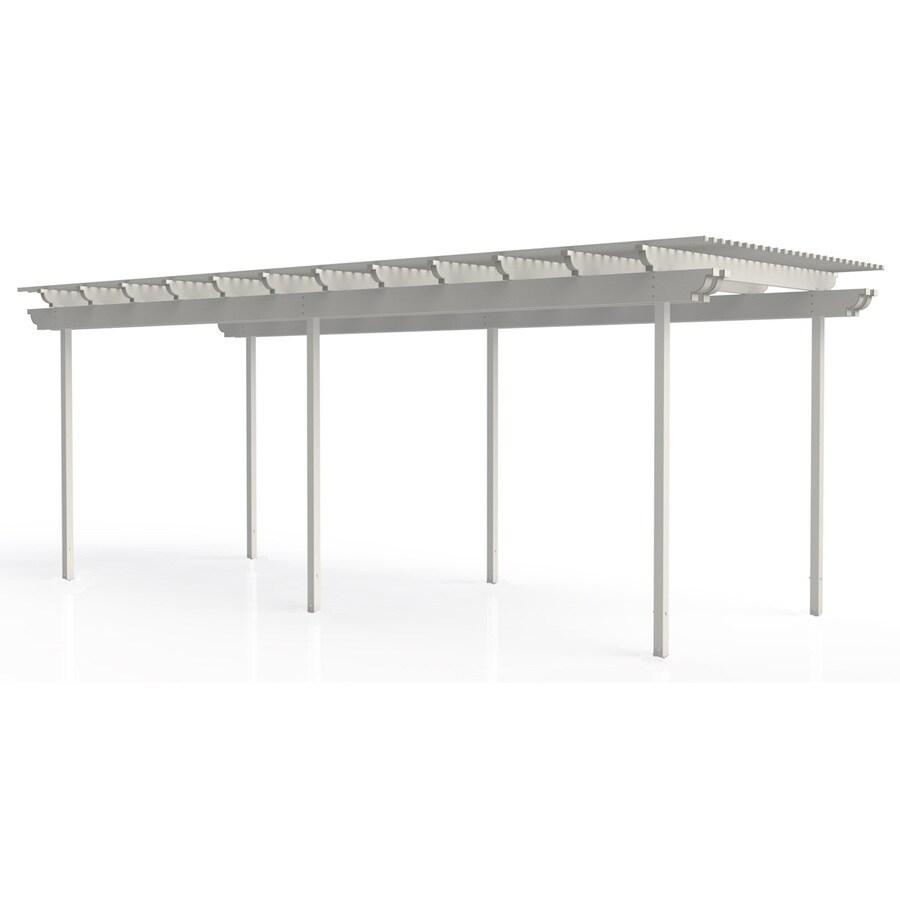 Americana Building Products 96-in W x 360-in L x 112.5-in H White Aluminum Freestanding Pergola