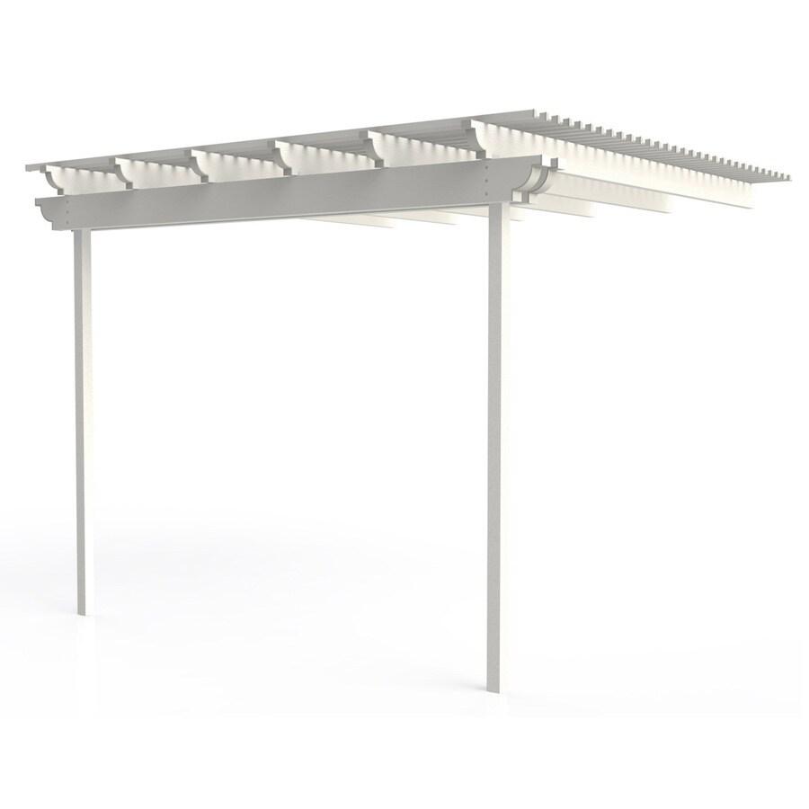 Americana Building Products 144-in W x 144-in L x 112.5-in H White Aluminum Attached Pergola