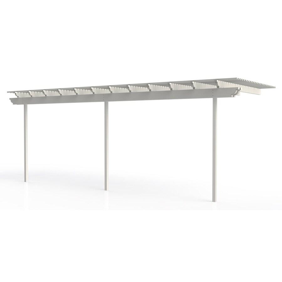 Americana Building Products 144-in W x 300-in L x 112.5-in H White Aluminum Attached Pergola