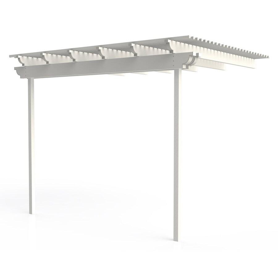 Americana Building Products 96-in W x 144-in L x 112.5-in H White Aluminum Attached Pergola