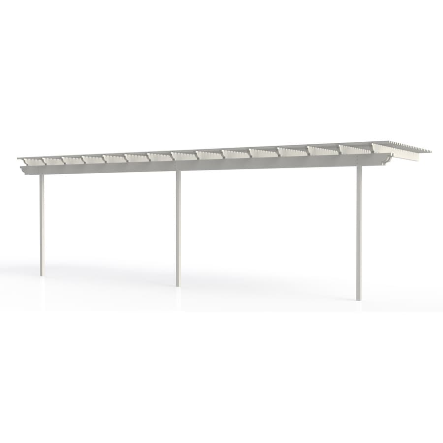 Americana Building Products 96-in W x 360-in L x 112.5-in H White Aluminum Attached Pergola