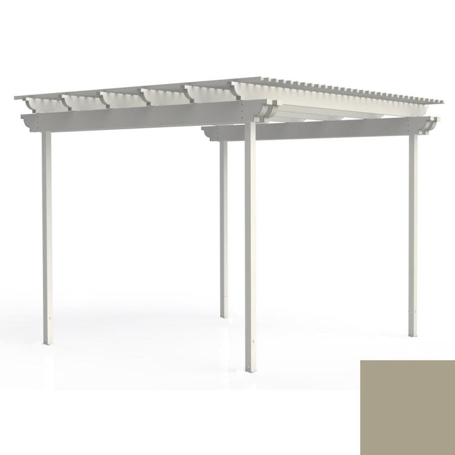 Americana Building Products 120-in W x 120-in L x 112.5-in H Adobe Aluminum Freestanding Pergola