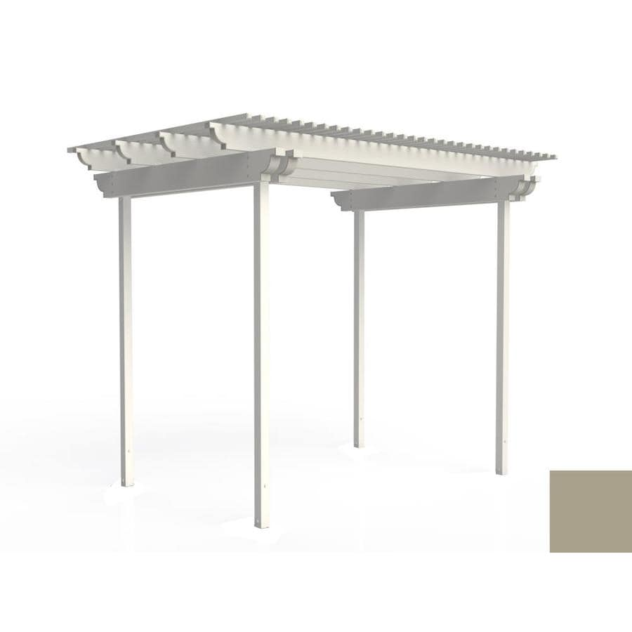 Americana Building Products 120-in W x 96-in L x 112.5-in H Adobe Aluminum Freestanding Pergola