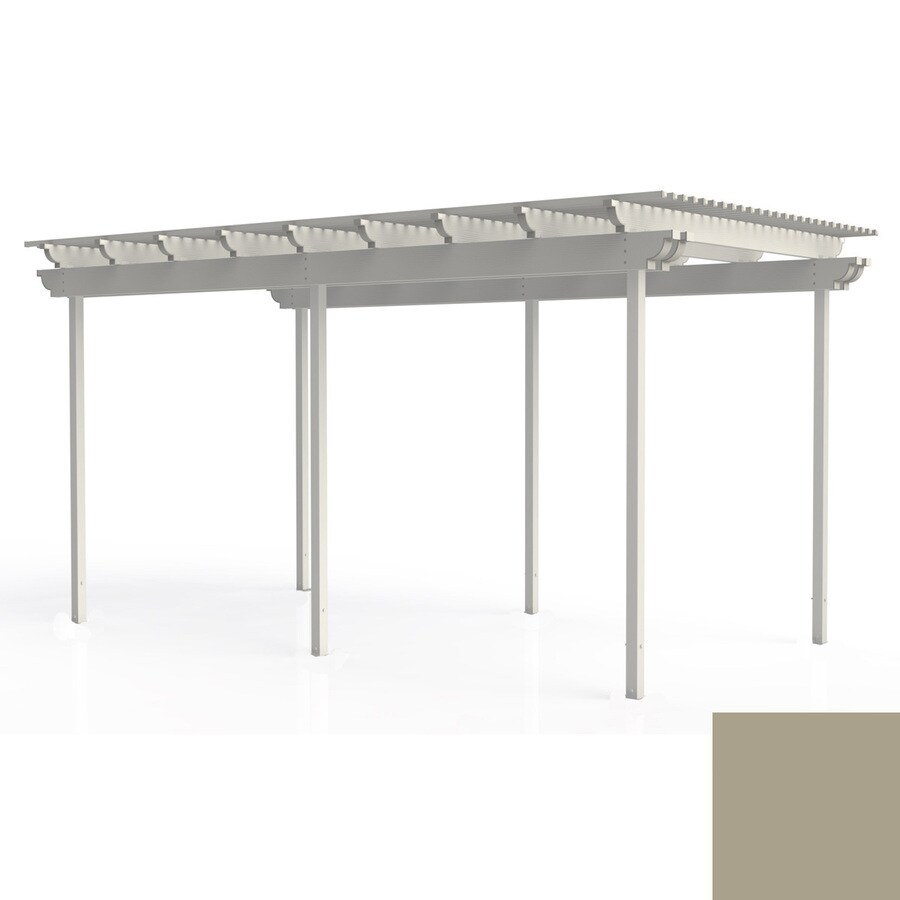 Americana Building Products 144-in W x 192-in L x 112.5-in H Adobe Aluminum Freestanding Pergola