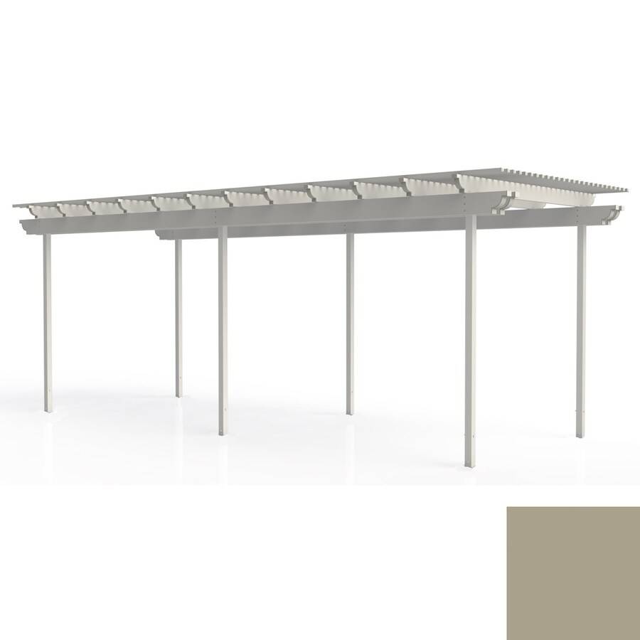 Americana Building Products 144-in W x 360-in L x 112.5-in H Adobe Aluminum Freestanding Pergola