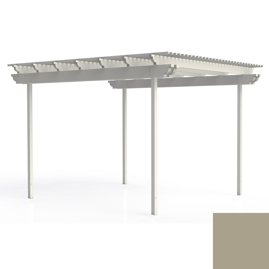 Americana Building Products 96-in W x 168-in L x 112.5-in H Adobe Aluminum Freestanding Pergola