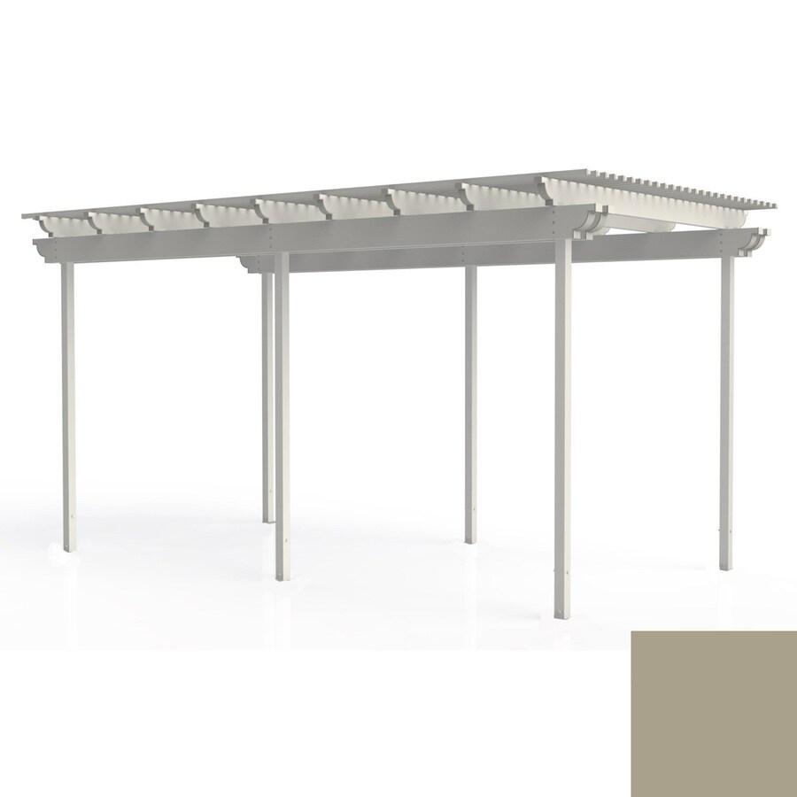 Americana Building Products 96-in W x 192-in L x 112.5-in H Adobe Aluminum Freestanding Pergola